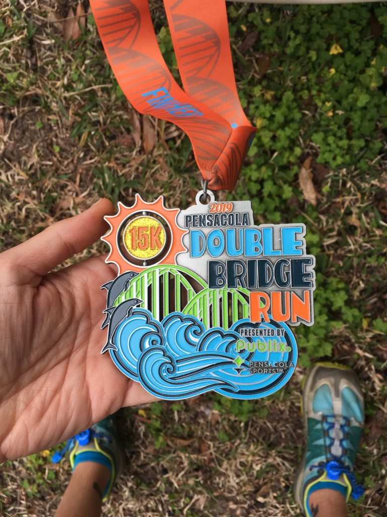 double bridge run medal